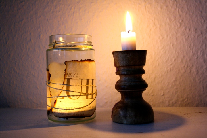 DIY- Upcycling: Nostalgie-Windlicht