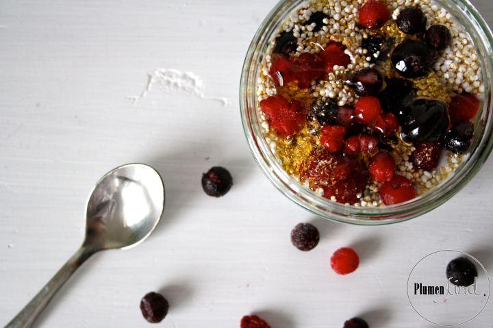 {Frühstücks- oder Nachtischidee} Chia-Pudding mit Beeren undAmaranth