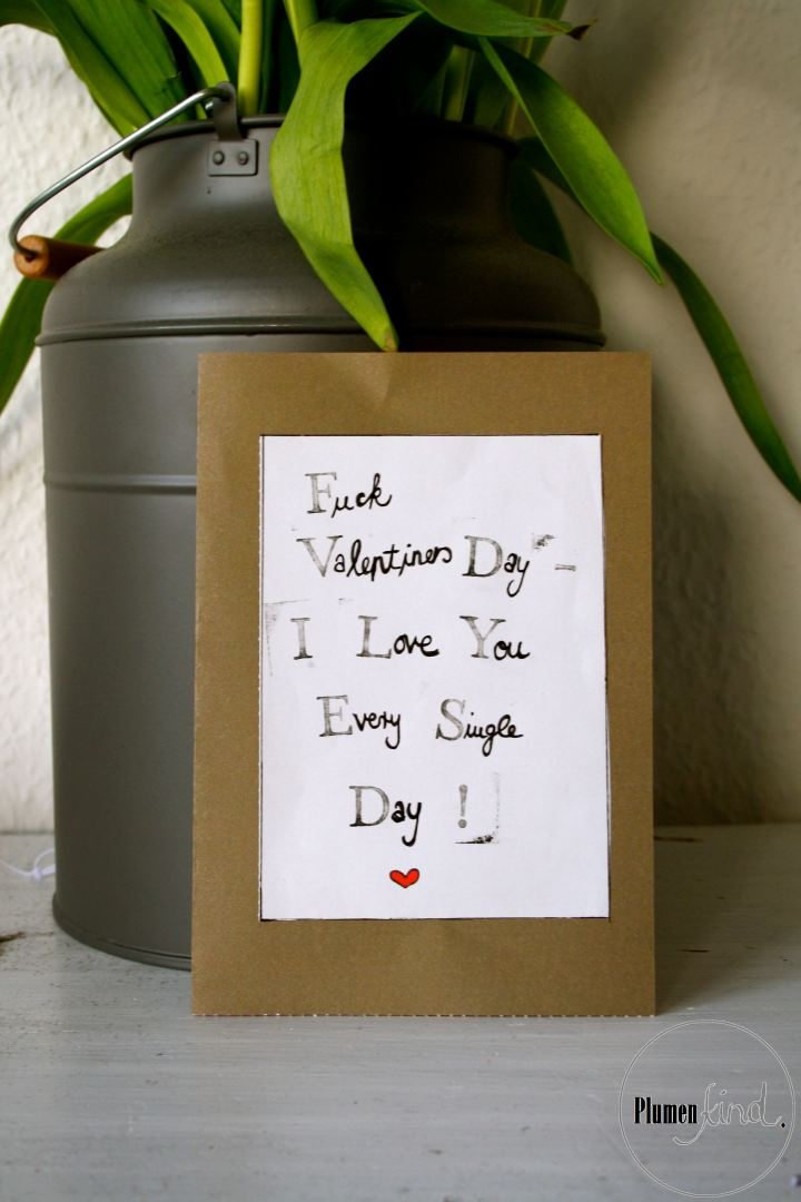 {I Love You Every Single Day} DIY Valentinstagskarte
