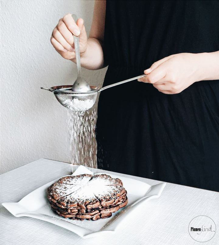{Sonntagsrezept} Und Action! Schokoladenwaffeln mitPuderzucker
